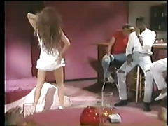 Sexy brunette stripper wants black guy Vintage Interracial