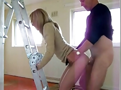 A Wife Fucks the Contractor