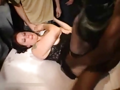 French Slut Wife In Bukkake Gangbang