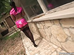 Angelica Heart Banging Outdoors