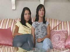 Two girls find a vibrator