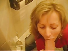 Busty Blonde Gf Fucking At Public Toilet
