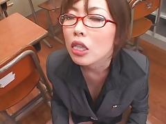 Japan big tits busty facial school