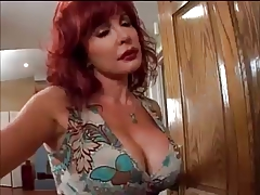 Redhead milf Vanessa seduces young BBC