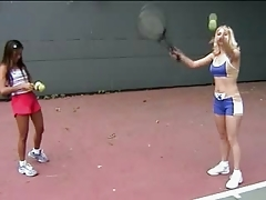 Girls In Love Katie And Sabrine In Lesbian Tennis Lesson