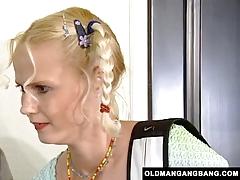 Blonde takes grandpas 039 anal gangbang