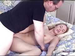 Young Blonde Casting With Old Ed