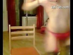 Girl Play On Webcam