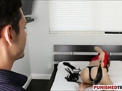 Pretty Teen Alex Mae Punished Real Hard By Getting Poun