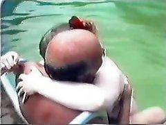 Older Couple Having Sex In The Pool Part 2 Wear Tweed
