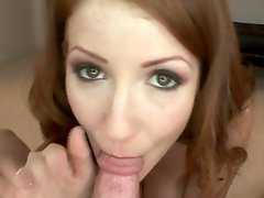The Hottest Redhead In Porn Nikki Rhodes Swallows Cum