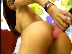 Sexy Brunette Romanian Girl Plays With Herself