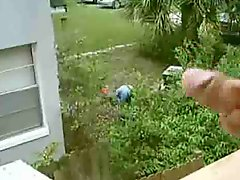 Holiday Hotel Flash Cock At Male Gardener