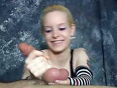 Hot Sadistic Little Minx Enjoys Giving A Very Rough Hand Job