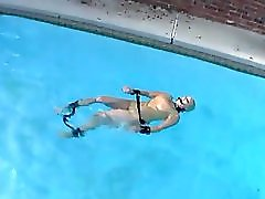 Rubber Doll Swims While Bound
