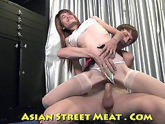 Skinny Titless Thai Sticky Out Ass