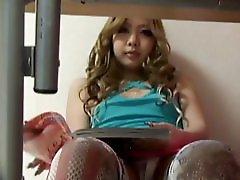 Peeping The Masturbation Of Japanese Teen Girl