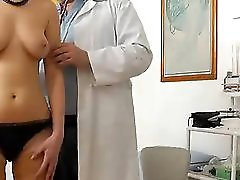 A Spy Cam Footage Of A Nude Girlie During Physical Check Up