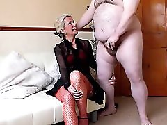 Real Amateur CFNM Made To Strip An Wank For Hot MILF Ammy