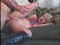 Blond Getting Her Ass Toy And Cock Fucked