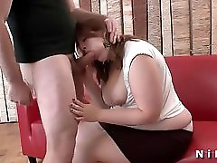 Bbw French Brunette Gets Her Ass Pounded