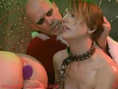 Dirty Santa Fucks His 2 Sex Slaves