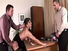 Hot Secretary Kate Has A Threesome