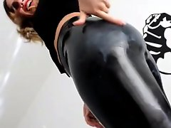Shiny Latex Leggins