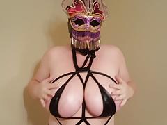 Whore Lateshay Mardi Gra Mask Outfit