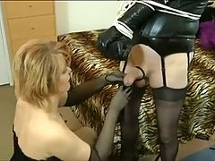 Mistress Fucks And Teases Sissy Crossdresser
