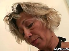 Hot Mother In Law Sucks And Rides His Dick