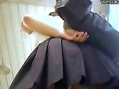 Mini Skirt Girls Under Panties Upskirt View