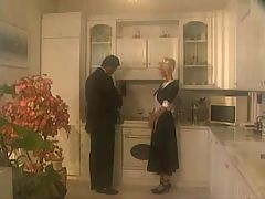 Horny Maid Babe Fucking With Her Boss In Kitchen