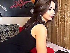Sexy Webcam Girl Strips And Masturbates
