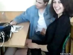 Handjob in classroom