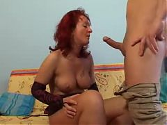 Redhead Mature Gets Her Pumped Cunt Fucked