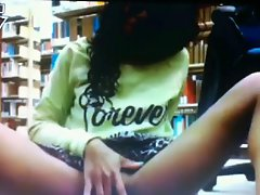 Kiara N Playing With Dildos In A Public Library
