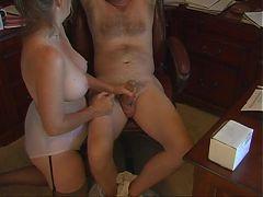 Mom Handjob In Fullback Panty Briefs