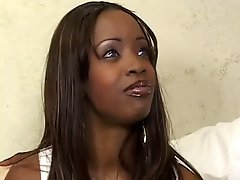 Teen Ebony Spreads Her Legs For Big Cock