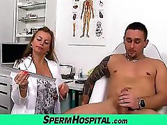 Sexy MILF Doctor Denisa Sperm Bank Handjob