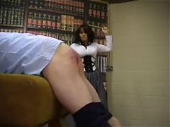 Miss Strict Punishes Naughty Boys
