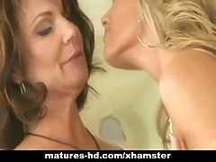 Mature Lesbian Couple Get It On