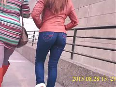 Latina In Jeans Booty Ass Culo Jiggle!!!