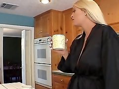 Blonde Teen And Mom Fuck Dad