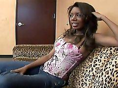 Ebony Babe Humps A Pornstar