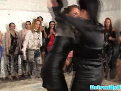 Euro Glamour Babes Mudwrestling