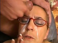 Good Old Granny Is A Facial Anal Angel !