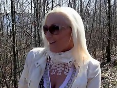 Blonde Big Tit Milf Give Blowjob In Woods