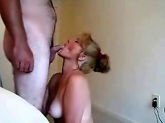 Sweet Wife Sucks And Swallows !