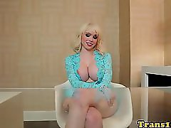 Busty Tranny Doll Raw Fucked With Black Cock